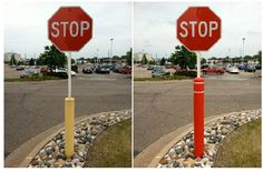 Before and After Post Guard Bollard Cover