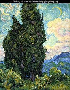 Cypresses - Vincent Van Gogh - www.vincent-van-gogh-gallery.org