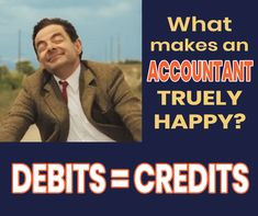 True happiness of an accountant is when debits = credits. Learn Accounting, Free Education, True Happiness, Finance, Student, Learning, Memes, Business, Happy