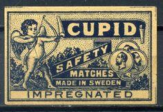 Old Matchbox Label from Sweden Cupid Lot 271 | eBay