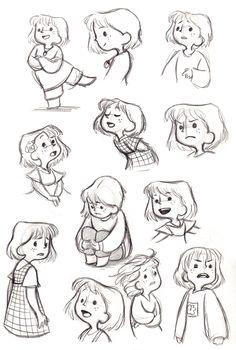 cartoon art Acorns - A short film by Gemma Roberts: Concept Art Art Drawings Sketches, Cartoon Drawings, Cute Drawings, Cartoon Drawing Tutorial, Character Design Animation, Character Drawing, Character Sketches, Kid Character, Children's Book Illustration