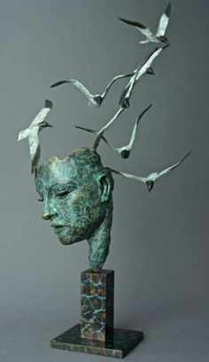 'Know more the sea' by Philip Wakeham. 2015. Bronze with patina.