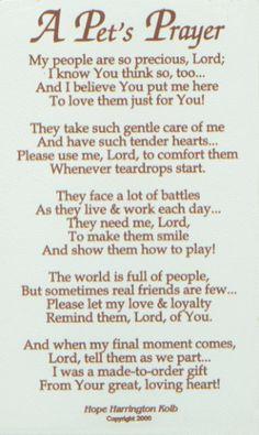 Pet Loss Prayer | In Memoriam
