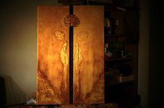 """""""Incomunicação"""" Acrílico sobre tela canvas Díptico  60 x 40 Autor: Guma . Disponível para adopção"""
