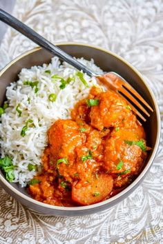 Authentic Indian Kashmiri Dum Aloo - a yogurt base and lite spices make scrumptious base and served with lite rice and green peas pilaf.