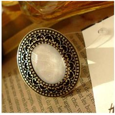 Retro palace Alloy Large Gem Stones Carved Rings Fashion Jewelry Wholesale China Jewelry