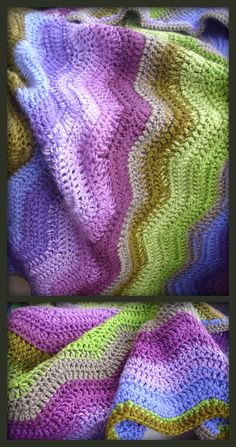 baby blanket with absolutely gorgeous colours, love it!