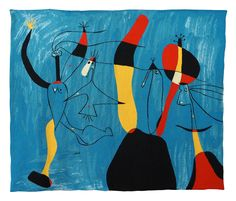 JOAN MIRO - MODERN ART WALL TAPESTRY POUR PILAR DE TOUT COEUR