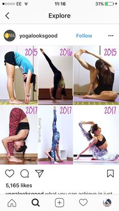 It's nice to see the progress real people make. More inspiring than the perfect poses alone