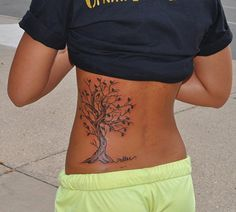 Tree Tattoo, Miller, Rib Tattoo, by John Laramy, Northeast Tattoo and Piercing, Minneapolis, MN, Twin Cities. Love this placement.