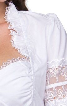 German traditional dirndl blouse B9090 white