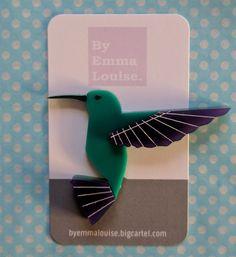 By Emma Louise — Harvey Hummingbird - Purple