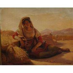 JEAN CLAUDE BONEFOND – Figura feminina - OST / CIE - 32 x 40 cm. Bonnefond nasceu na cidade francesa de Lyon em 1796. Ele estudou sob Pierre Révoil (1776-1842) e tornou-se bem sucedido em representar cenas da vida camponesa. Por volta de 1826 ele foi para Roma e pintou temas sagrados e de gênero no realista e Em 1831, tornou-se diretor da escola de arte de Lyon e, em 1837, membro da Academia. Morreu em Lyon em 1860. Trabalho em museu: Paris, Lyon, Morez, Saint-Etienne, Hanover, Compiègne…