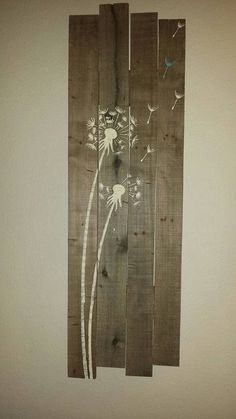 Rustic pallet sign with Dandelions von Hidesertcreations auf Etsy Wood Pallet Art, Pallet Signs, Wood Pallets, Wood Art, Country Wood Signs, Dandelion Art, Aqua, Crafts To Make And Sell, Pallet Projects
