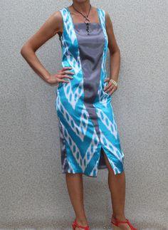 New Women Summer dress,cocktail dress,party dress, uzbek silk dress,atlas dress #Unbranded #PartyCocktail