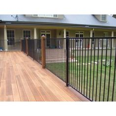 Pool fence for front fence with large timber posts