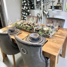 Verona Dining Chair In Grey Velvet With Chrome Knocker And Oak