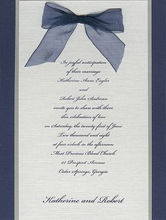 "Triple Layer Navy Wedding Invitation  7 3/4"" x 5 1/2""  $188.00 for 25  $263.00 per 100"