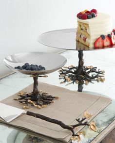 Treeees! Pretty servware - (home, butler's pantry, tablescapes)