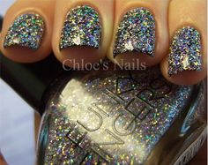 Funky Fingers - Sand and Stiletto... She Always gets her Nails to Look Like Glass! Go to Her Website for Incredible Nail Looks at Chloe's Nails!