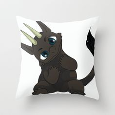 Chibi Dragon Throw Pillow by noreliablack Scooby Doo, Chibi, Dragon, Throw Pillows, Fictional Characters, Art, Art Background, Toss Pillows, Cushions