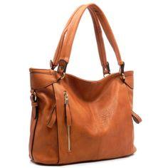 Fashion Zip Shoulder Bag Description Color: Brown Lining: Faux Leather  Zip closure / Detachable shoulder strap Measurements:Approx. L 15 * H 11 * W 5.5 (8 D) Victoria Perez Collection Bags Shoulder Bags