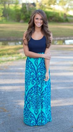 The Pink Lily Boutique - What I Live For Jade Damask Maxi, $39.00 (http://thepinklilyboutique.com/what-i-live-for-jade-damask-maxi/)