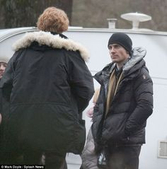 First look of Michael Fassbender as he gets into character as cult legend Frank Sidebottom on set of new film Got Characters, Domhnall Gleeson, Maggie Gyllenhaal, Ben Barnes, Michael Fassbender, Best Actor, On Set