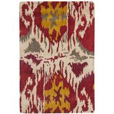 Found it at Wayfair - Ikat Ivory/Red Area Rug