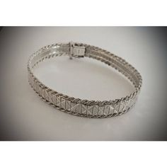 Vintage Flexible 8 Inch Sterling Silver Stackable Bangle Bracelet... ($30) ❤ liked on Polyvore featuring jewelry, bracelets, sterling silver bangle bracelet, sterling silver hinged bangle, vintage jewelry, sterling silver bracelet bangle and sterling silver jewelry