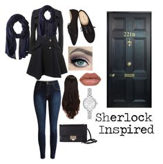 """Sherlock inspired outfit"" by madmaddie-16 on Polyvore featuring Cole Haan, Wet Seal, LeSalon, Kate Spade and Jimmy Choo"