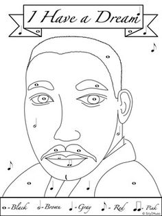 MARTIN LUTHER KING DAY COLORING PAGES AND WORKSHEETS FOR MUSIC CLASS SUBS