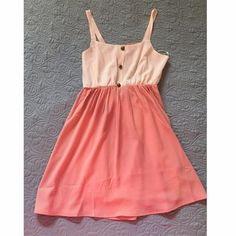 Peach and cream sundress Audrey Sundress worn once on my honeymoon! A little too short for me. Open, lacy back. Lined and not see through. EUC, worn only once. Dresses Mini
