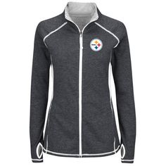 "PITTSBURGH STEELERS Majestic Women's ""Club Pass"" NFL Long Sleeve Full Zip Jacket #PittsburghSteelers"