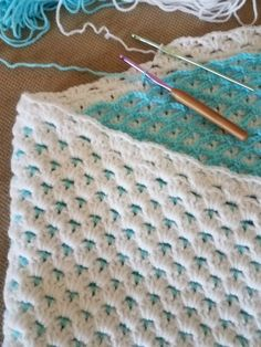 Crochet baby blanket by Charms28