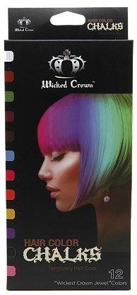 Wicked Crown Hair Color Chalks Temporary Hair Color 12 Piece Set