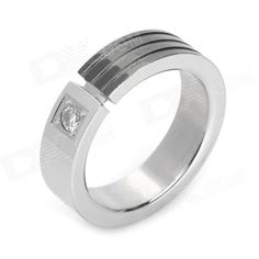 Quantity: 1 Piece; Suitable for: Adults; Color: Silver + black; Material: 316L stainless steel; Gender: Unisex; Size: US9; Features: Elegant luxurious and beautiful decoration in daily and great gift to your friend; Other: Inner Diameter: 19mm; Packing List: 1 X Ring; http://j.mp/1toyYQO
