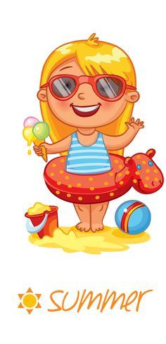 "Photo from album ""Времена года"" on Yandex. Girl Clipart, Cute Clipart, Summer Crafts, Summer Fun, Kindergarten, School Clipart, Clip Art, Digi Stamps, Months In A Year"