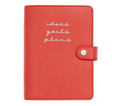 LEATHER PERSONAL PLANNER MEDIUM RED: CREATIVE / $60