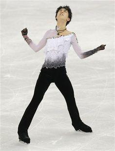 Yuzuru Hanyu of Japan during his free skate at the XXII Winter Games, 2014 Japanese Teen, Winter Games, Hanyu Yuzuru, Winter Olympics, Figure Skating, The Man, Skate, Russia, Dancer