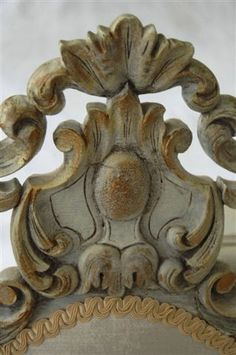 detail from 1700s swedish chair