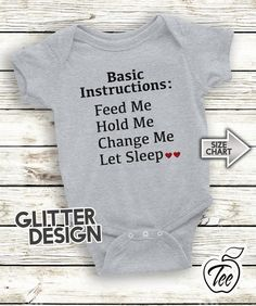 d628c3b73 Items similar to Basic Instructions Feed Me Hold Me Change Me Let Sleep - Infant  Baby - Creeper - Bodysuit - Baby Shower Gift on Etsy