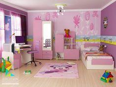 كتالوج غرف نوم اطفال باللون الوردي - لوكشين ديزين . نت