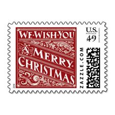 <br>Ornate chalkboard style Christmas holiday custom postage with elegant retro vintage decorative typography, and fancy deco art nouveau swirls. Contemporary, classic, modern and stylish way to send old fashion warm wishes for happy winter holiday celebrations with trendy rustic and elegant charm in crimson red and white. </br>  <br> Fancy Christmas Chalkboard Collection  </br>