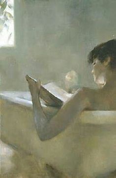 Chen Bolen「Woman Reading in Bath」