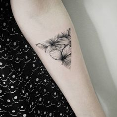 Floral Triangle Tattoo by Vitaly Kazantsev