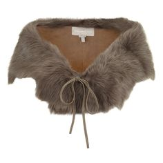 Gushlow & Cole Toscana Shearling Shawl Taupe AW13