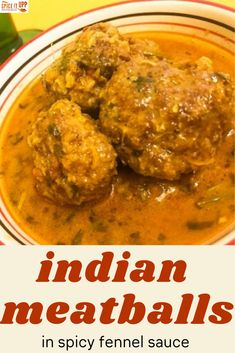 An amazingly easy to make Indian Meatballs dipped in fragrant fennel seeds flavoured sauce. Ready in 30 minutes with limited ingredients this meatballs curry goes great with plain boiled rice or bread! #indianmeatballs #spicymeatballscurry #easyindianrecipe