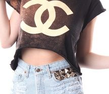Inspiring image brunette, chanel, coal and terry, croptop, fashion, hair, pyramid, shorts, studs, vintage #287758 - Resolution 800x1250px - Find the image to your taste