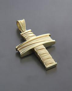 Σταυρός χρυσός K14 Cross Pendant, Gold Pendant, Necklace Guide, Cross Jewelry, Ring Bracelet, Bracelets, Jewelery, Cufflinks, Bling